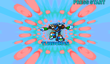 Mega Man: The Power Battle (CPS1, USA 951006) - Cut-Scene  - Turbo Man - User Screenshot