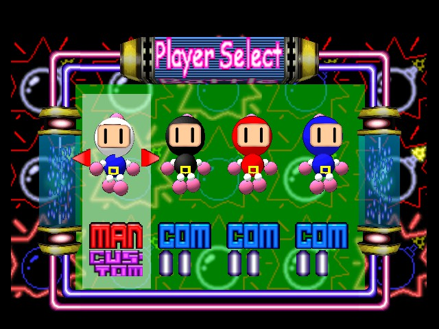 Bomberman (blue) -Character Select :White, Black, Red and Blue - User Screenshot