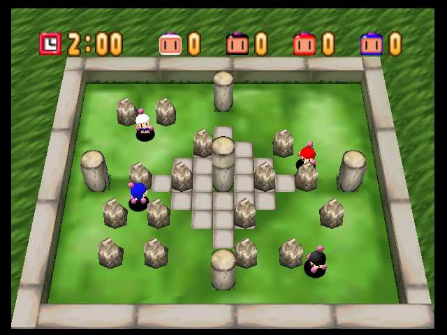 Bomberman (blue) -Level Rock Garden: - User Screenshot