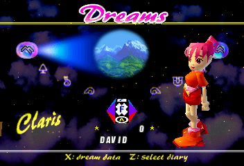NiGHTS into Dreams... - Character Select  - Claris - User Screenshot