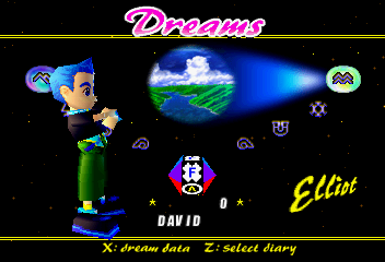 NiGHTS into Dreams... - Character Select  - Elliot - User Screenshot