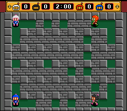 Bomberman (blue) -Level Stage 1:Stage 1 - User Screenshot