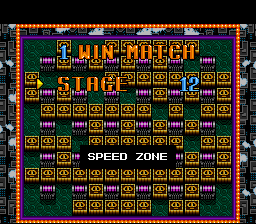 Super Bomberman - Level Select  - Stage 12: Speed Zone - User Screenshot