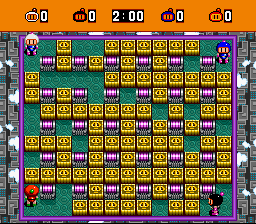 Super Bomberman - Level Stage 12: Speed Zone - Stage 12: Speed Zone - User Screenshot