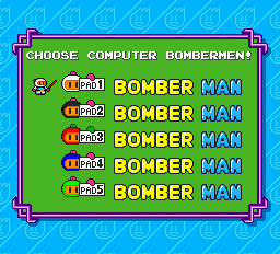 Bomberman (blue) -Character Select : - User Screenshot
