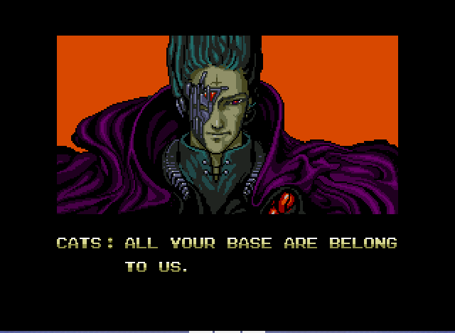 Zero Wing - Intro8: All your base are belong to us. - User Screenshot