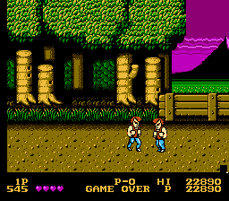 Double Dragon - Game Over - User Screenshot