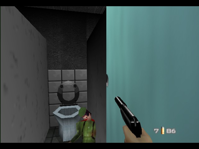 GoldenEye 007 - This guy had a bit too much to drink - User Screenshot