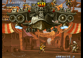 Metal Slug 2 - Super Vehicle-001+II - stage 1 boss - User Screenshot