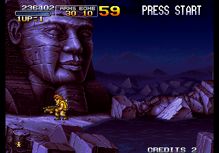 Metal Slug 2 - Super Vehicle-001+II - stage 2 - User Screenshot