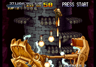 Metal Slug 2 - Super Vehicle-001+II - stage 2 boss - User Screenshot