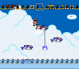 Kaizo Mario World - End of stage 2 - User Screenshot