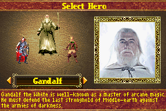Lord of the Rings, The - The Return of the King - Character Select  -  - User Screenshot