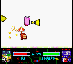 Kirby Super Star - Stupid pitcher!!!! TOSS IT! - User Screenshot