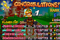 Mario Kart - Super Circuit - first win with bowser - User Screenshot