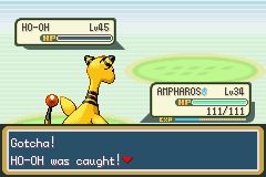 Pokemon Shiny Gold - Battle  - GOTCHA! - User Screenshot