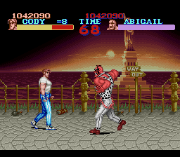 Final Fight - Cut-Scene  - Is your sugar level ok? - User Screenshot