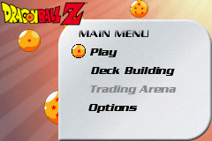 Dragon Ball Z - Collectible Card Game - Menus Title Screen -  - User Screenshot