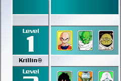 Dragon Ball Z - Collectible Card Game - Level Select  - Level 1 opponents - User Screenshot
