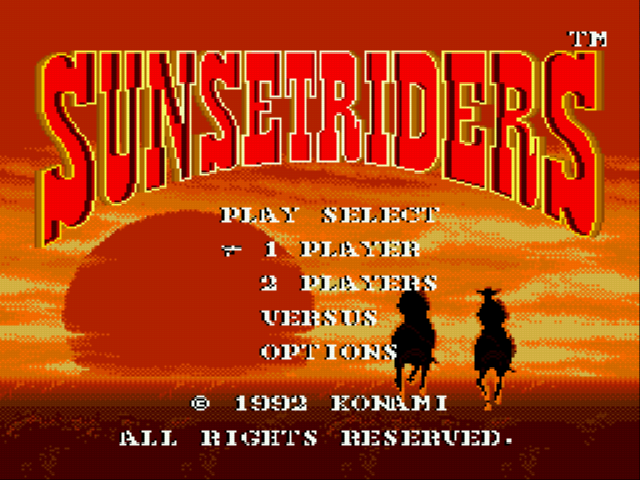 Sunset Riders - Menus Title -  - User Screenshot