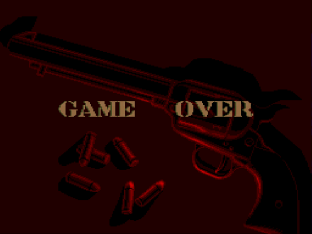 Sunset Riders - Gameover  -  - User Screenshot