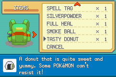 Pokemon Ash Gray (beta 3.61) - Menus  - NOTHING BEATS A JELLY FILLED DONUT - User Screenshot
