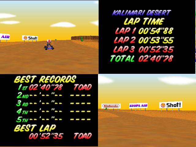 Mario Kart 64 - best time - User Screenshot