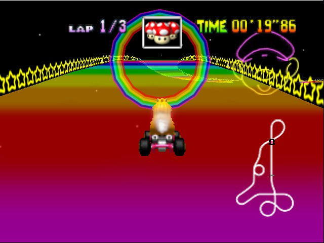 Mario Kart 64 - i didnt take this? i didnt even press f6! - User Screenshot
