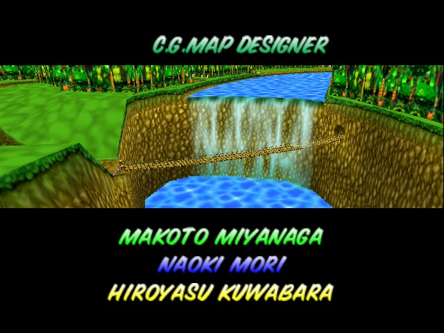 Mario Kart 64 - Level  - Beautiful waterfall. - User Screenshot