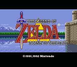 The Legend of Zelda - A Link to the Past - Introduction  - Title screen. - User Screenshot