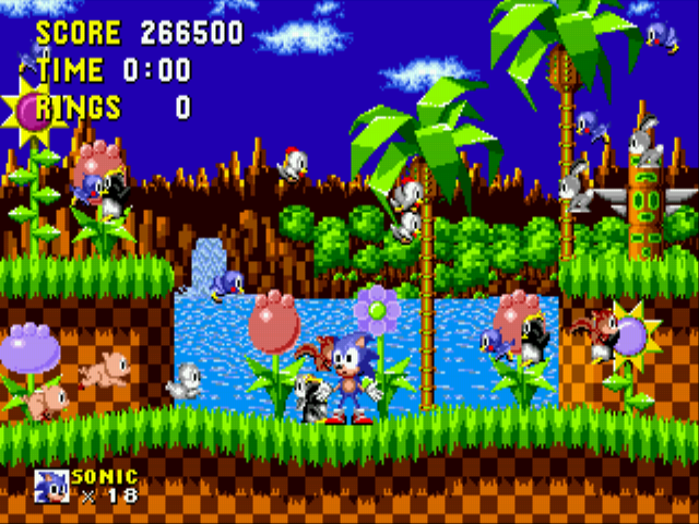 Sonic the Hedgehog - completed with sonic thinking wtf! lol - User Screenshot