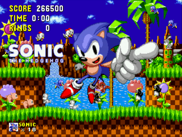 Sonic the Hedgehog - game beat with a bang tidy score - User Screenshot