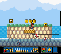 Super Mario All-Stars  Super Mario World - Level  -  - User Screenshot