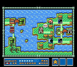 Super Mario All-Stars  Super Mario World - Level  - World 4 - User Screenshot