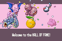 Pokemon Snakewood - Ending  - My Hall of fame team - User Screenshot
