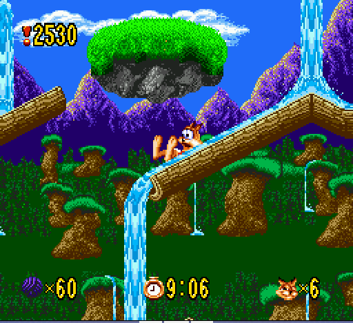Bubsy - cool waterslide - User Screenshot