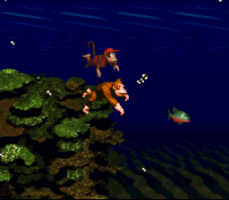 Donkey Kong Country - beautiful underwater level - User Screenshot