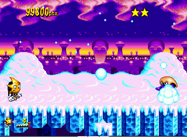 Ristar - Misc  - snowbal fight!! - User Screenshot