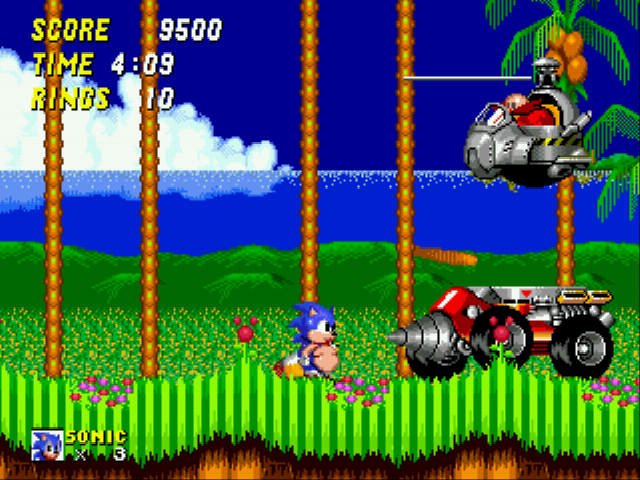 Sonic 2 XL - egg: bye fatty  Sonic:you can