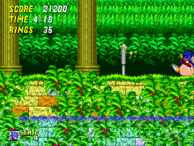 Sonic 2 XL - roll - User Screenshot