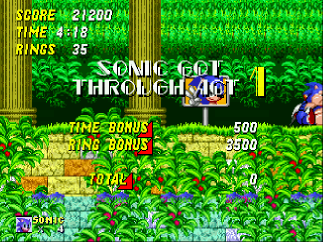 Sonic 2 XL - i finish in super fat mode - User Screenshot