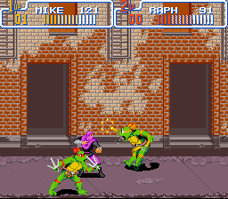 Teenage Mutant Ninja Turtles IV - Turtles in Time - ow ow - User Screenshot