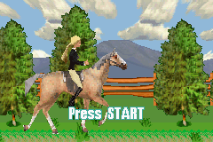 Barbie Horse Adventures - Introduction  - The title screen. - User Screenshot