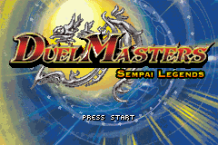 Duel Masters - Sempai Legends - Introduction  - The title screen - User Screenshot