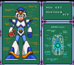 Mega Man X - Misc Weapon Get - Normal X in awesome suit of armour - User Screenshot