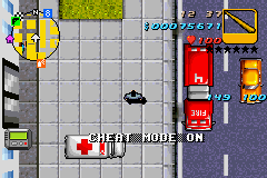 Grand Theft Auto Advance - Cheat Mode! - User Screenshot