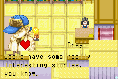 Harvest Moon - More Friends of Mineral Town - woah Gray is in red too >x< - User Screenshot