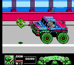 Teenage Mutant Ninja Turtles III - The Manhattan Project - Road Hog - User Screenshot