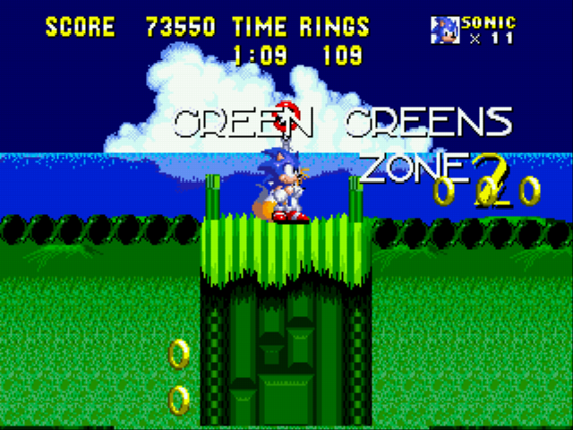 Sonic 2 SMTP - Look! 11 lives beat that Dr.eggman! - User Screenshot