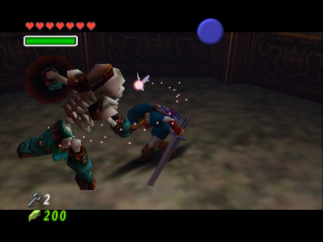 The Legend of Zelda - Ocarina of Time - Battle  - Not in the FACE! - User Screenshot